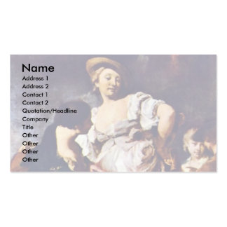 The Fortune Teller By Piazzetta Giovanni Battista Pack Of Standard Business Cards