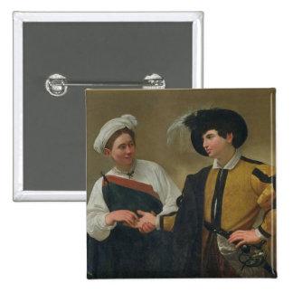 The Fortune Teller (La Buona Ventura), c.1594 15 Cm Square Badge
