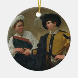 The Fortune Teller (La Buona Ventura), c.1594 Round Ceramic Decoration