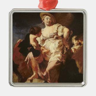 The Fortune-teller (L'Indivona), 1740 Silver-Colored Square Decoration