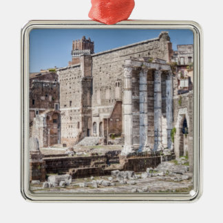 The Forum of Augustus is one of the Imperial 3 Silver-Colored Square Decoration