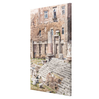 The Forum of Augustus is one of the Imperial 4 Canvas Print