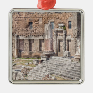 The Forum of Augustus is one of the Imperial 4 Silver-Colored Square Decoration