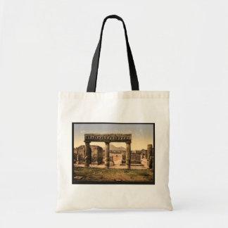 The Forum Pompeii Italy vintage Photochrom Canvas Bag