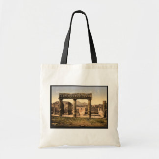 The Forum, Pompeii, Italy vintage Photochrom Budget Tote Bag
