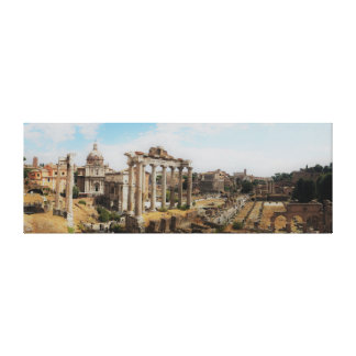The Forum - Rome Italy - Panorama Canvas Print