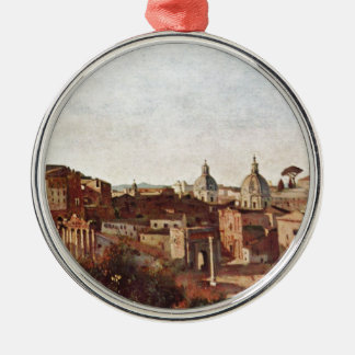 The Forum seen from the Farnese Gardens, Rome Christmas Ornament