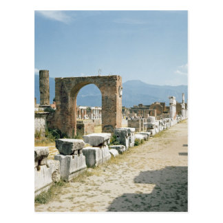 The Forum with the mountains in the background Postcards