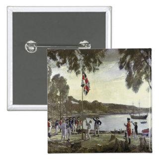 The Founding of Australia by Capt. Arthur 15 Cm Square Badge