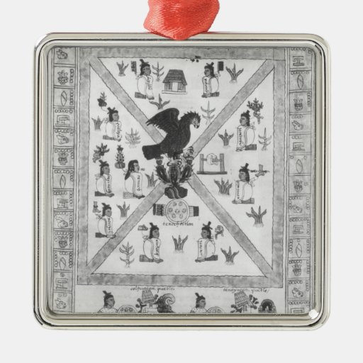 The Founding of Tenochtitlan Christmas Tree Ornaments