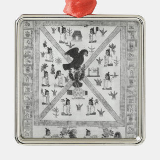 The Founding of Tenochtitlan Silver-Colored Square Decoration