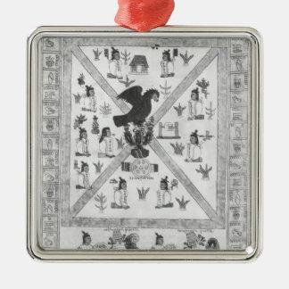 The Founding of Tenochtitlan Silver-Colored Square Decoration