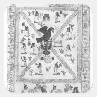 The Founding of Tenochtitlan Square Sticker