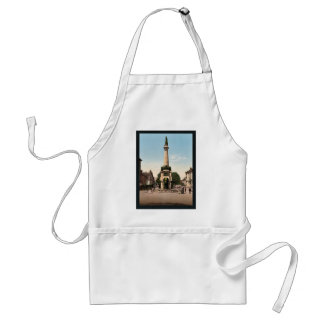 The fountain of elephants, Chambery, France vintag Adult Apron
