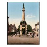 The fountain of elephants, Chambery, France vintag Postcard