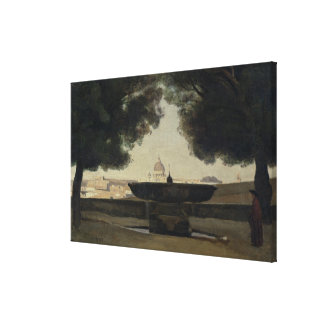 The Fountain of the French Academy in Rome Canvas Print