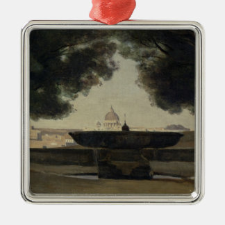 The Fountain of the French Academy in Rome Christmas Ornament