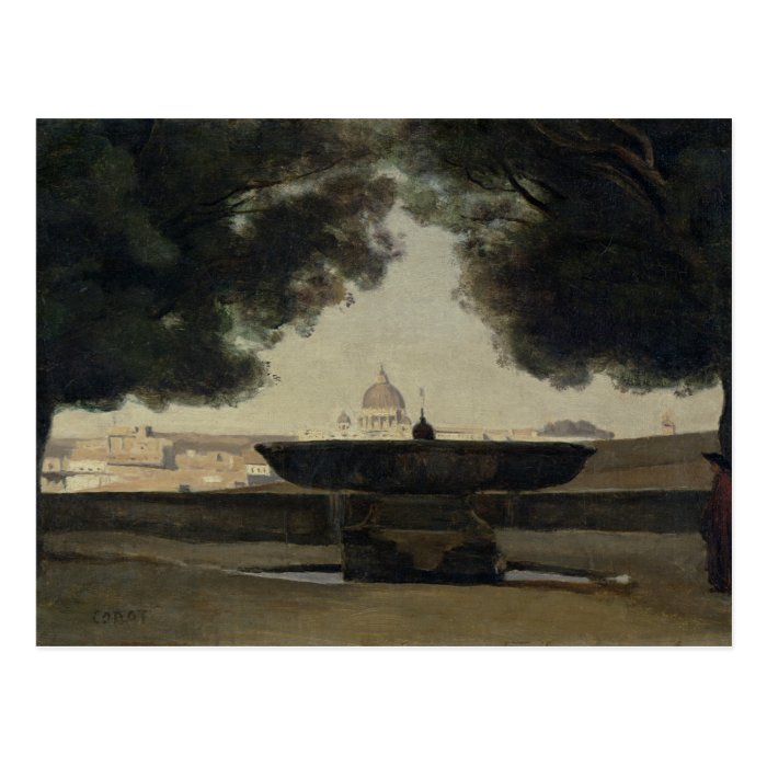 The Fountain of the French Academy in Rome Postcard