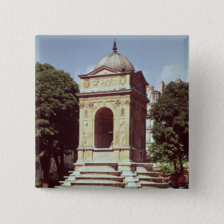The Fountain of the Innocents, c.1550 15 Cm Square Badge