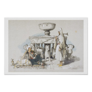 The Fountain of the Lions, Vignette from 'Sketches Poster