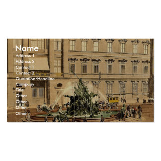The Fountain, Royal Palace, Berlin, Germany classi Business Card Template