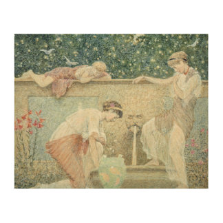 The Fountain Wood Print