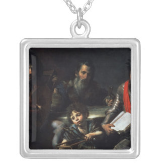 The Four Ages of Man, c.1626-7 Square Pendant Necklace