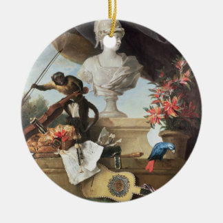 The Four Continents: Europe, 1722 (oil on canvas) Round Ceramic Decoration