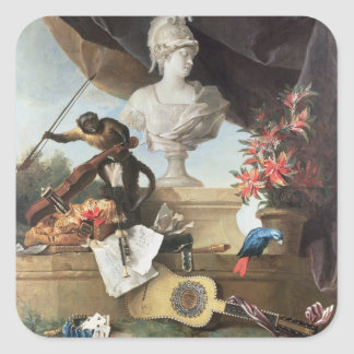 The Four Continents Europe 1722 oil on canvas Square Sticker