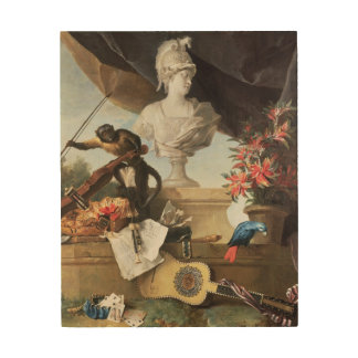 The Four Continents: Europe, 1722 (oil on canvas) Wood Wall Art