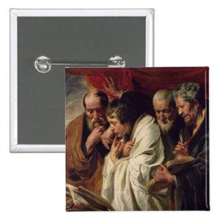 The Four Evangelists 15 Cm Square Badge
