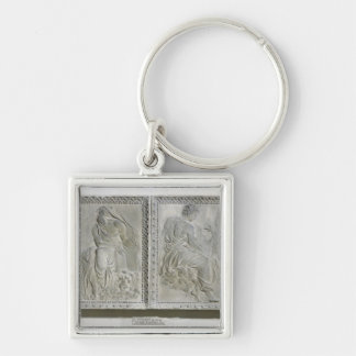 The Four Evangelists Silver-Colored Square Key Ring