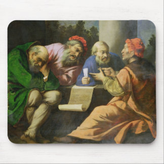 The Four Fathers of the Church (oil on canvas laid Mouse Mat