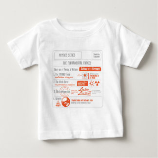 The Four Fundamental Forces- Physics Series Baby T-Shirt