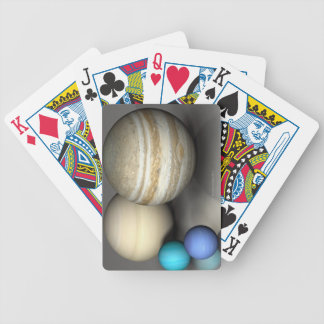 The Four Largest Planets Bicycle Playing Cards