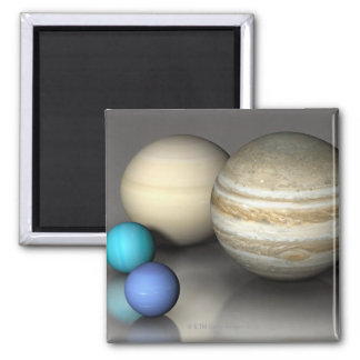 The Four Largest Planets Magnet