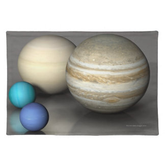 The Four Largest Planets Place Mats