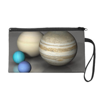 The Four Largest Planets Wristlet Clutches