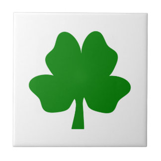 The Four-Leaf Clover For Luck Ceramic Photo Tile