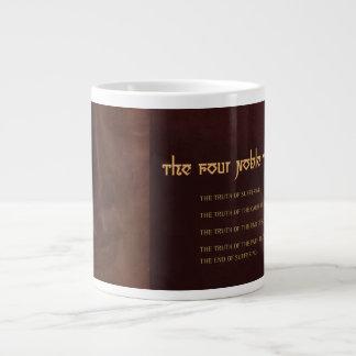 The Four Noble Truths of Buddhism, bone china Large Coffee Mug