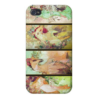 The four seasons, Alphonse Mucha iPhone 4/4S Cases