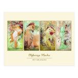 The four seasons, Alphonse Mucha Postcard