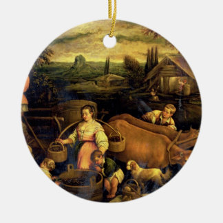 The Four Seasons: Autumn Round Ceramic Decoration