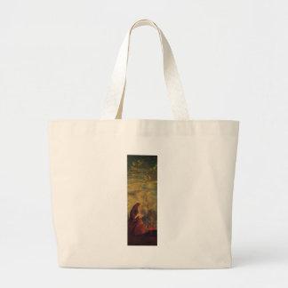 The Four Seasons, Winter by Paul Cezanne Jumbo Tote Bag