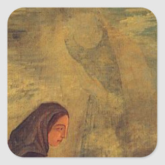 The Four Seasons, Winter by Paul Cezanne Square Sticker