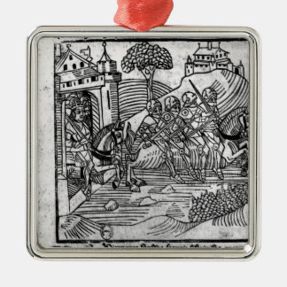 The Four Sons of Aymon are chased Christmas Ornament