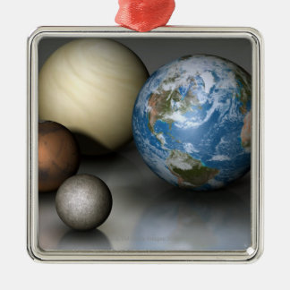 The Four Terrestrial Planets Christmas Ornament