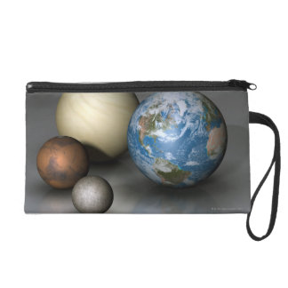 The Four Terrestrial Planets Wristlet Clutches
