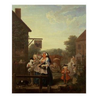 The Four Times of Day: Evening, 1736 Poster