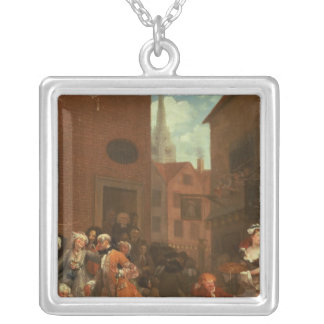 The Four Times of Day: Morning, 1736 Silver Plated Necklace